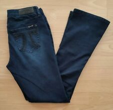 Seven7 Women's Rocker Slim Boot Cut Jeans Size 8 Blue Dark Wash