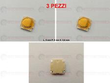 PULSANTE MICRO SWITCH CHIAVE TELECOMANDO RENAULT MEGANE, SCENIC 4 PIN - 3 PZ.