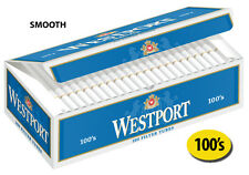50 Cartons Westport Smooth 100's Cigarette Filter Tubes Blue (1 Master Case)