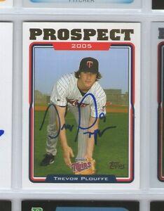 Trevor Plouffe Minnesota Twins Signed Topps Card T1 GFA
