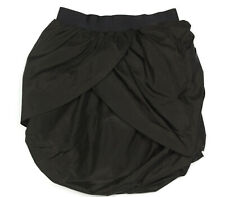 J. Crew Whimsical Artistic Black Bubble Layered Skirt Silk size 00 party club