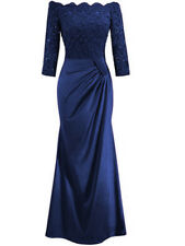 Long Ladies Women Lace Evening Formal Party Ball Gown Prom Bridesmaid Dress 6-16