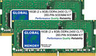 16GB (2 x 8GB) DDR4 2400MHz PC4-19200 260-PIN SODIMM MEMORY RAM KIT FOR LAPTOPS