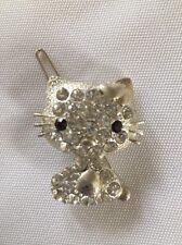 New Hello Kitty Hair Clip Rhinestone Crystal Accessory