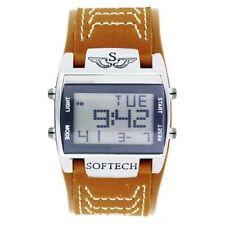 Relojes de pulsera Deportivo de plata de cuero