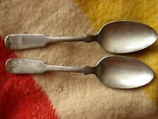 Lot 2 900 WB/Wallace Tinned Fiddler Spoons circa 1897