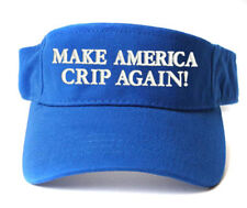 MACA MAKE AMERICA CRIP AGAIN! BLUE SUN VISOR CAP HAT OSFM ADJUSTABLE SIZE