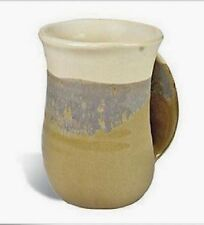 Hand Warmer Mug Desert Sand Right Hand Tan by Clay In Motion