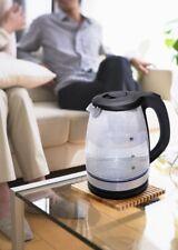 Electric Glass 1.7L Kettle Blue Illuminated Modern Kitchen Appliance Cordless