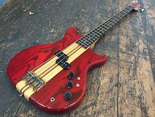 Weststone THUNDER 1-a Wine Red ELECTRIC BASS GUITAR completamente impostare made in Japan