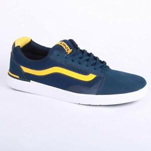 Vans Locus Men's Lace Up Trainers Skate Shoes Navy Yellow UAQYY0 UK Size 6.5