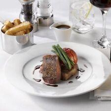 Set of 4 Large Pure White 30cm Round Dinner Plates Steak Plates 12 Inch