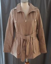 Liz Claiborne, Medium, Sepia, Short Trench Coat/ Jacket, New with Tags