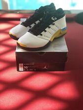 """Air Jordan 17 XVII Low White Black """"Lightning"""" Yellow 303891-101 Size 10.5"""