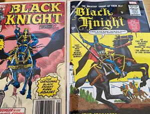 Black Knight #1 1st series 1990 The Ebon Avengers & Atlas 2021 Reprint Facsimile