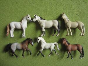Schleich 6x Pferde teils aus Sets aus Sammlungsauflösung