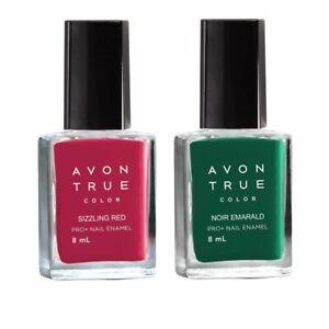 Avon True Color Nail Wear Pro+ Nail Enamel (noir emerald- sizzling red)Freeship