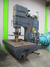 75 Ton Lake Erie Hydraulic Straightening Press Gap Frame Huge Bed