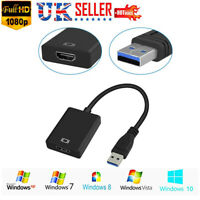 USB 3.0 to HDMI 1080P Video Graphic Adapter Converter Cable for PC HDTV Laptops
