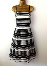 Coast Black White Skater Dress Prom Bandeau Womens