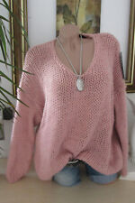 chaud DOUILLET pull tricot grossier Pull vintage extra-large rose 36 38 40