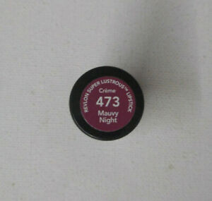 1 tube Revlon Super Lustrous Lipstick 473 MAUVY NIGHT creme UNSEALED
