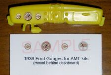 1936 FORD COUPE and ROADSTER GAUGE FACES!! -1/25 scale- for AMT KITS