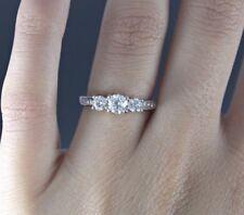 $2,799 Zales Past Present Future 14K White Gold 1.00ct Diamond Engagement Ring