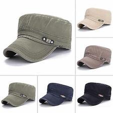 Women Men Classic Army Hat Cadet Combat Military Solid Cap Style Patrol Baseball