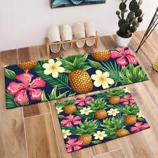 Rectangle Area Rugs Floor Mat Bedroom Carpet Tropical Plants Flowers Pineapples