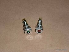 NEW Ducati Bevel Headlight Idiot Indicator Light PAIR Red/Green 160 250 350 450