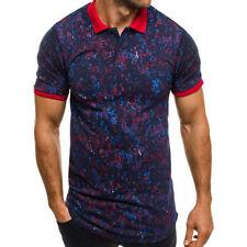 Magliette da uomo multicolori poliestere s