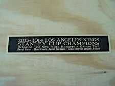 L.A. Kings 2013-14 Stanley Cup Nameplate For A Hockey Stick Case / Photo 1.5 X 6