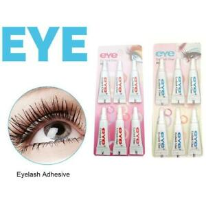 6PCS/SET Eyelash Glue Adhesive Strong Clear / Black Waterproof W9S7