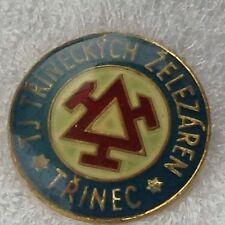 Trinec F.K. Football Club REP CECA anni 1960 UFFICIALE Fermacravatta BADGE molto buona