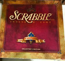 Scrabble - 50th Anniversary Collector's Edition Turntable Board Game 100% IN BOX