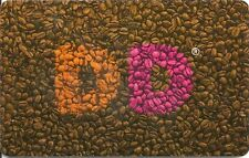 Dunkin' Donuts Restaurant Brown Coffee Beans Pink Orange D's 2014 Gift Card
