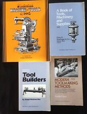 4 Book Set of Machinist, Machinery, and Tool Making Books; Classic Reprints