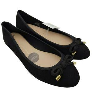 Dorothy perkins womens black core ballet slip on flats size 5 uk new rrp 14.00
