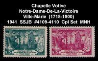 CANADA SSJB 1941 CHAPELLE NOTER-DAME-DE-LA-VICTOIRE 1718-1900 CPL SET CINDERELLA