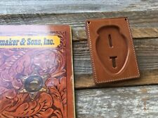 Tex Shoemaker Brown Leather Fire Badge ID Holder Walking Bear Chain / Pocket