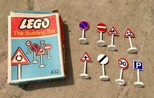 Boxed Vintage Lego Set 432 Road Signs.             (8) UK & OZ LTD Release 1966