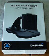 "GPS Dash Mount Garmin Pliable Base Portable Holder Friction Dashboard w 5"" Case"