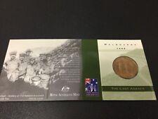 1999 RAM $1 UNC The Last Anzacs M Mintmark
