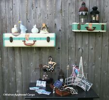 POTTERY BARN TEEN TRAVELER'S SUITCASE SHELVES (2) -NEW- DESTINATION: COOL DÉCOR!