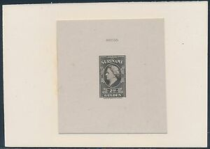 SURINAME #205P DIE PROOF ON INDIA ON CARD W/ CONTROL NO. BS3628