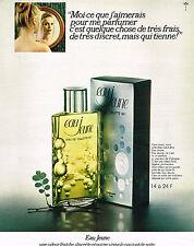 PUBLICITE ADVERTISING 094  1971  EAU JEUNE    eau de toilette