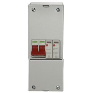 Wylex 100a RCD with SPD2 Enclosure Surge Protection Device 18th edition Metal