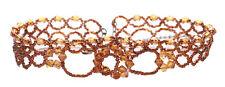 Grandeur Light Brown Crystal Beads Adjustable Choker Necklace(B5/zx125)