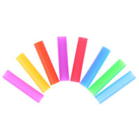 8pcs/set Silicone Tips Cover Food Grade Cover for 6mm Stainless Steel Straws gp